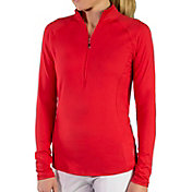 Jofit Women's Brushed Long Sleeve Golf Mock