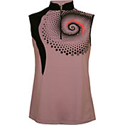 Jamie Sadock Women's Spiral Sleeveless Golf Polo