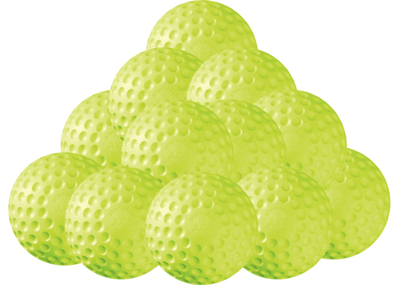 "Jugs 12"" Sting-Free Dimpled Softballs - 12 Pack"