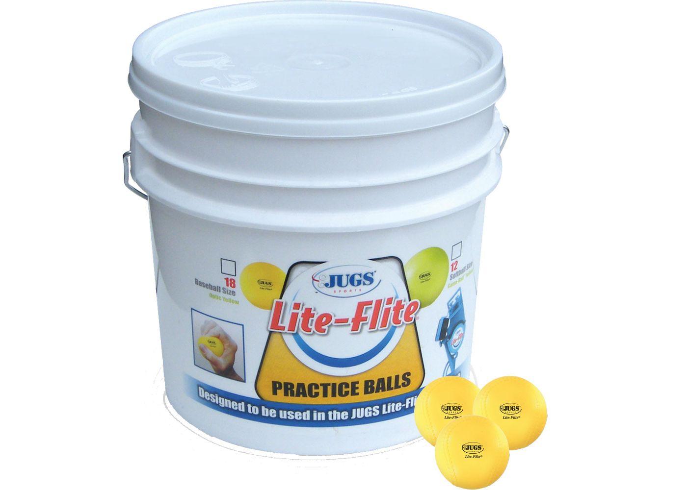 Jugs Lite-Flite Bucket of Baseballs - 18 Pack