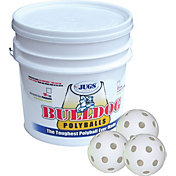 Jugs Bulldog White Poly Training Baseballs - Bucket of 18