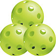 Jugs Bulldog Yellow Poly Training Softballs - 84 Pack