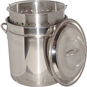 King Kooker 102 Quart Stainless Steel Boiling Pot with Steam Rim