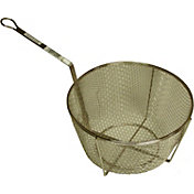 "King Kooker 11"" Nickel-Plated Straining Basket"