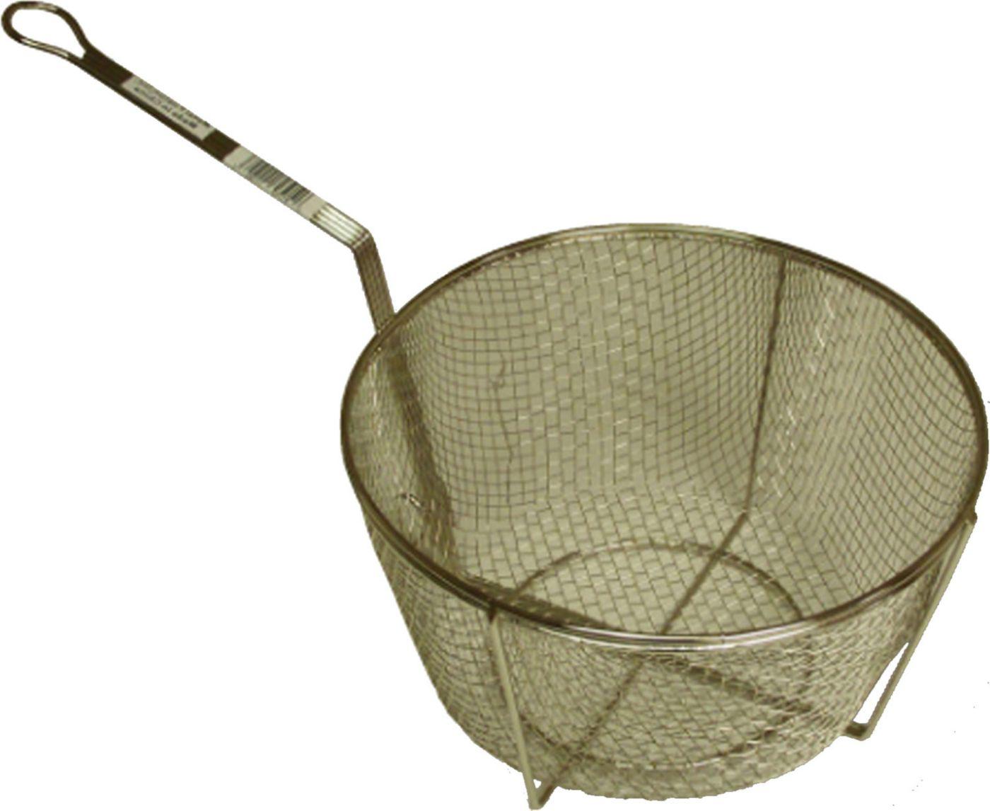 "King Kooker 11"" Nickel-Plated Straining Basket"