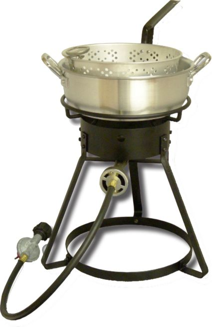 King Kooker 16 Outdoor Cooker With 7 Quart Aluminum Deep Fryer