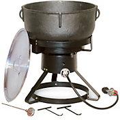 "King Kooker 17.5"" Jambalaya Propane Outdoor Cooker and 10 Gallon Pot"