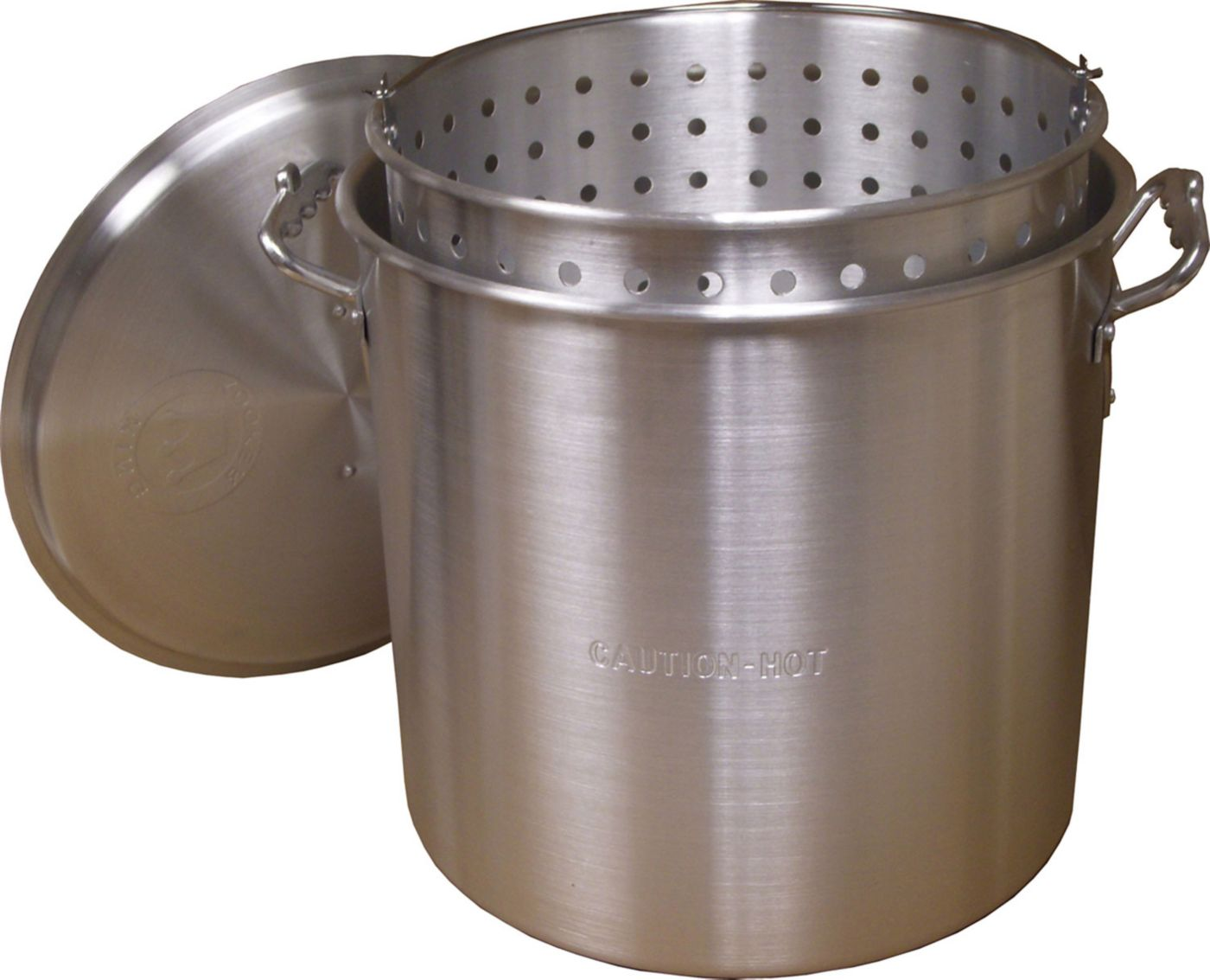 King Kooker 22 Quart Aluminum Pot with Basket and Lid