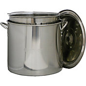 King Kooker 22 Quart Stainless Steel Pot with Basket and Lid