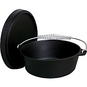 King Kooker 8 Quart Seasoned Cast Iron Dutch Oven