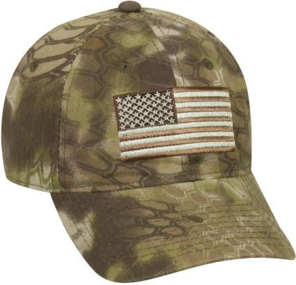 ba720083287 Kryptek Men s Americana Tonal Flag Camo Hat