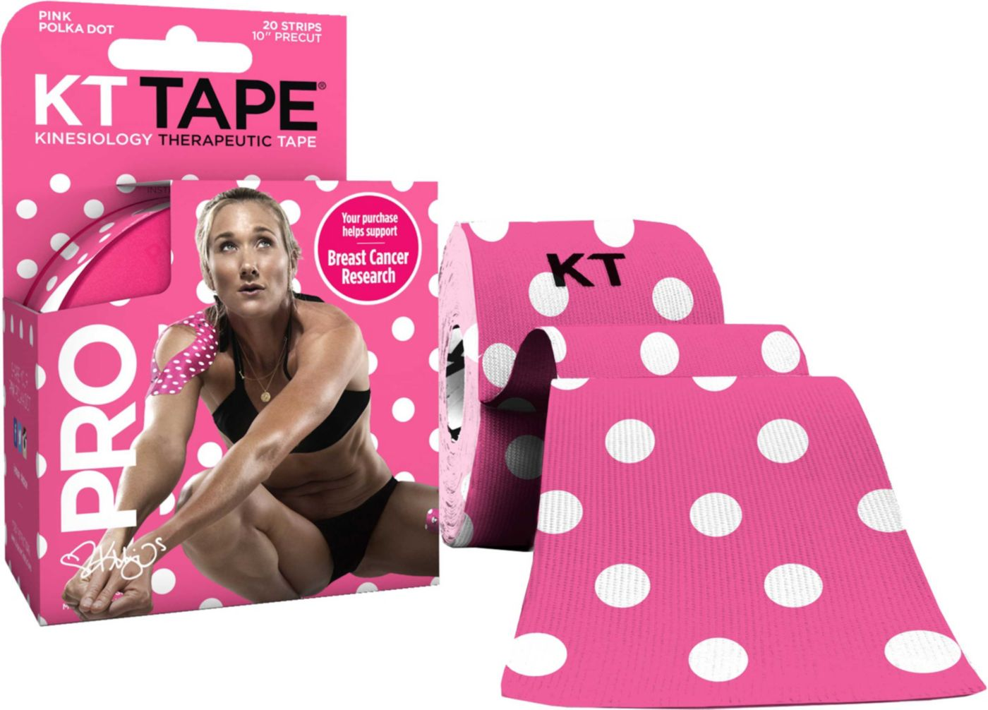 KT TAPE PRO Limited Edition Pink Polka Dot Kinesiology Tape