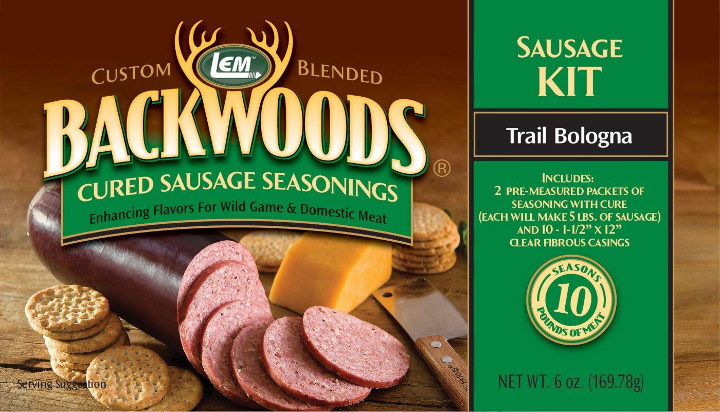 LEM Custom-Blended Backwoods Cured Trail Bologna Sausage Kit