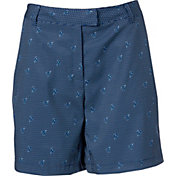 Lady Hagen Women's Bon Voyage Collection Nautical Sail Printed Golf Shorts
