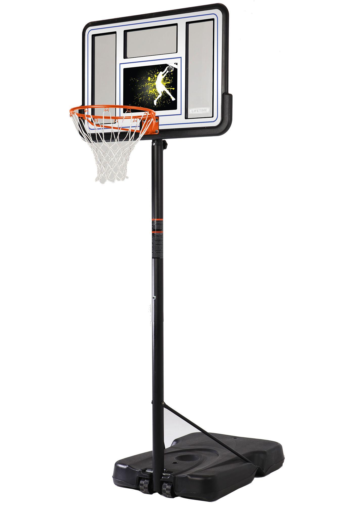 "Lifetime 44"" Pro Court Portable Custom Basketball Hoop"