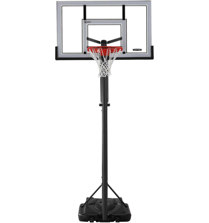 """Lifetime 54"""" Steel Framed Power Lift Portable Basketball Hoop"""