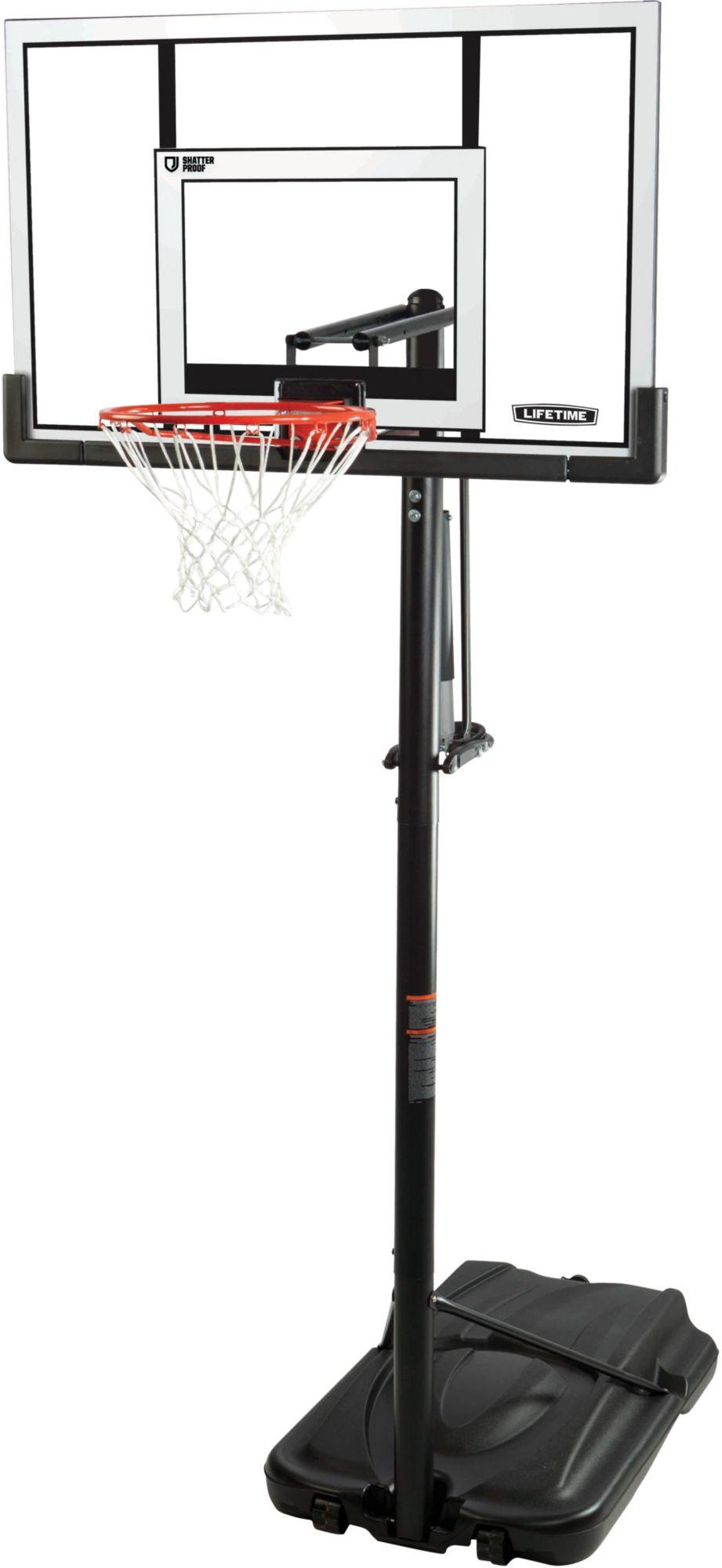 lifetime 52 steel framed shatterproof portable basketball hoop