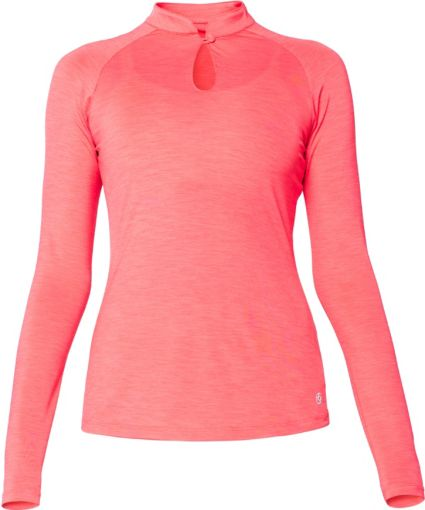 LIJA Women's Loop Mandarin Long Sleeve Polo