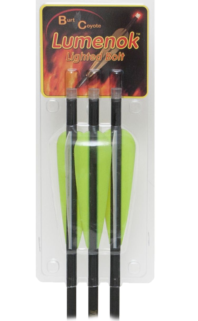 Lumenok Lumen-Arrow Lighted Nock Crossbow Bolt - 3 Pack, carbon thumbnail