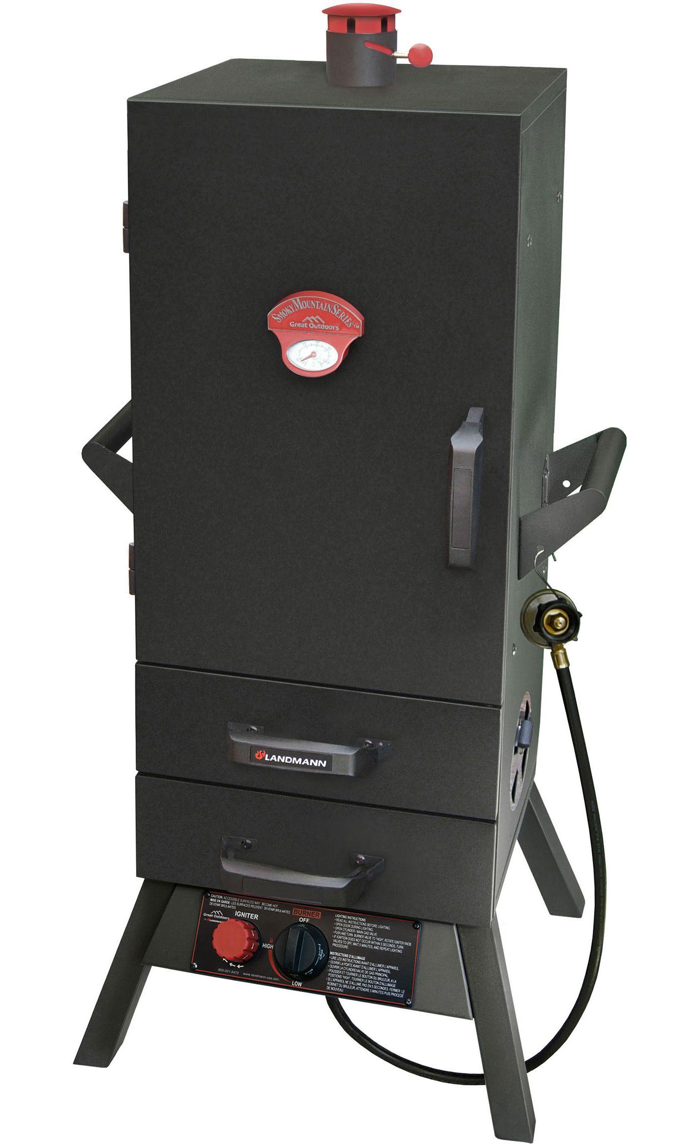 """Landmann 34"""" Two-Drawer Vertical Gas Smoker"""