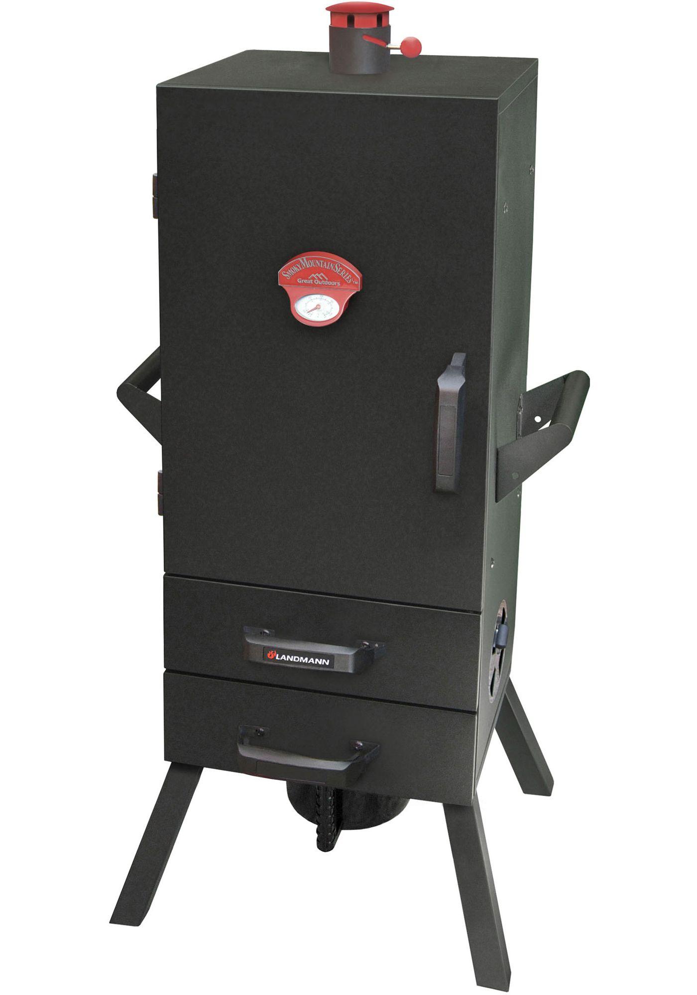 "Landmann; 24"" Two-Drawer Vertical Charcoal Smoker"
