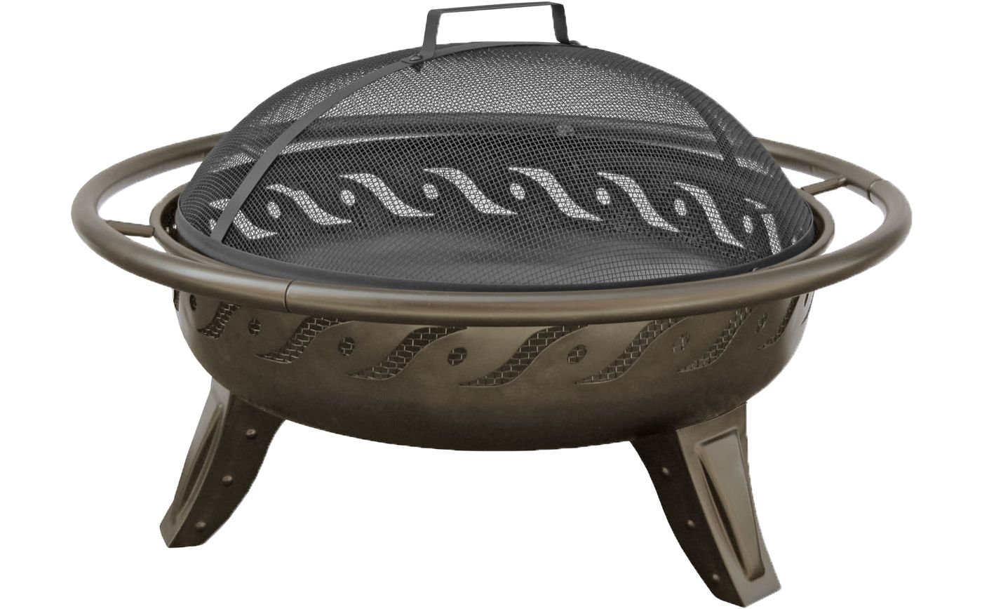 "Landmann Firewave 29.5"" Metallic Brown Fire Pit"