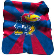 Kansas Jayhawks Sherpa Throw Blanket