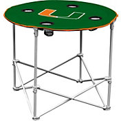 Miami Hurricanes Portable Round Table