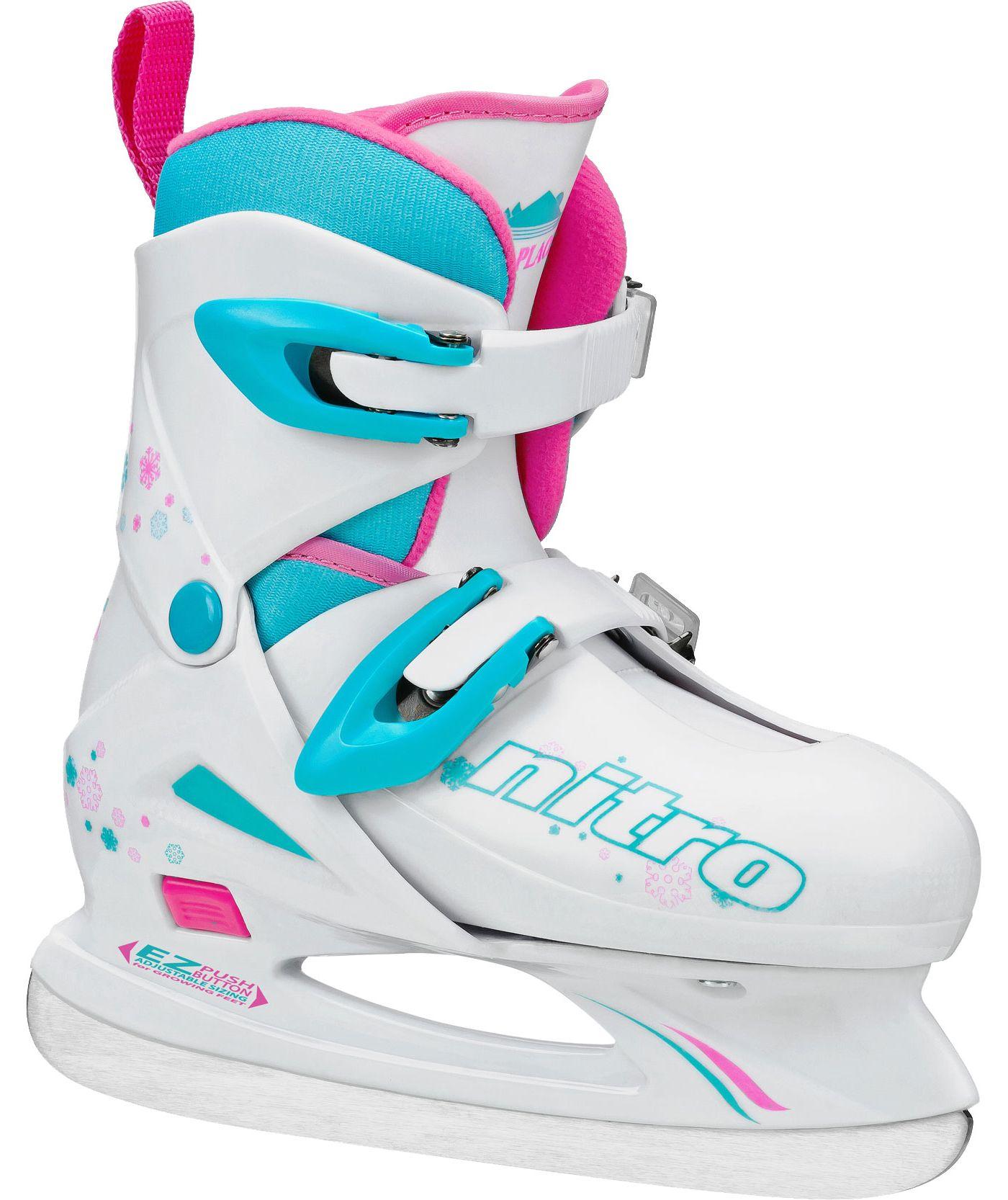Lake Placid Girls' Nitro 8.8 Adjustable Figure Skates