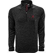 Levelwear Men's Alabama Crimson Tide Grey Armour Quarter-Zip Shirt