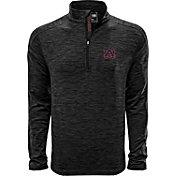 Levelwear Men's Auburn Tigers Grey Armour Quarter-Zip Shirt