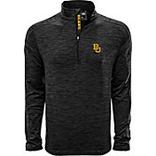 Levelwear Men's Baylor Bears Grey Armour Quarter-Zip Shirt