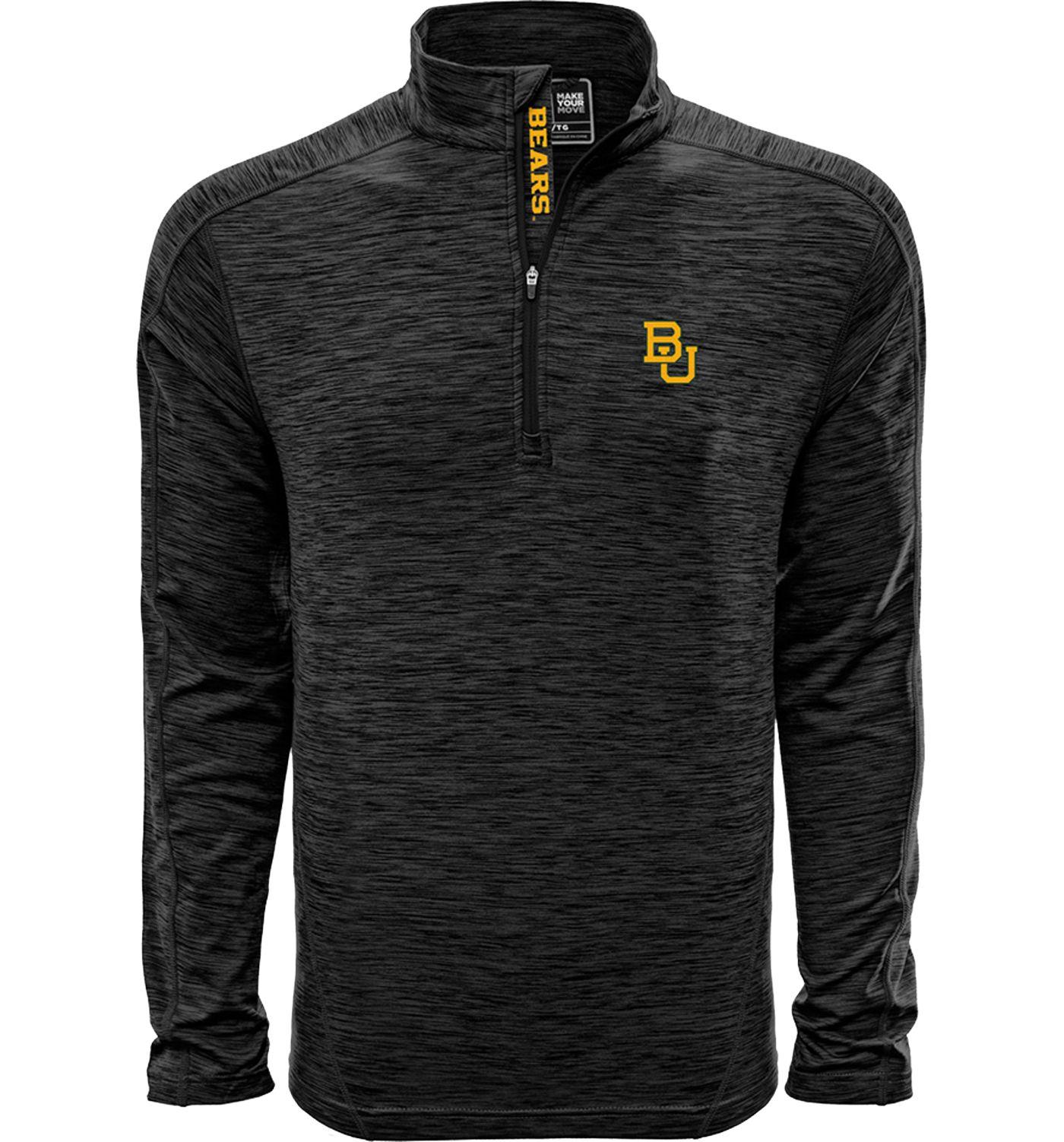 Levelwear Men's Baylor Bears Grey Armour Quarter-Zip Shirt