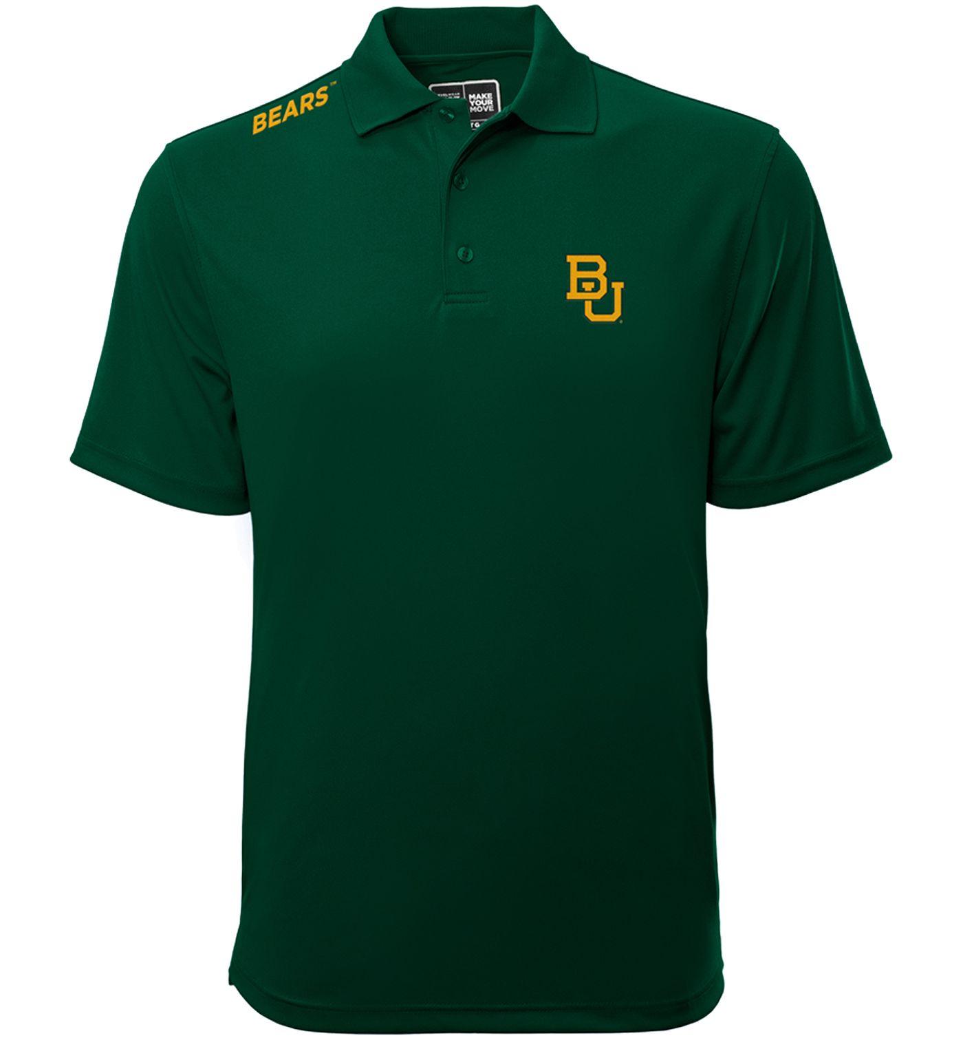 Levelwear Men's Baylor Bears Green Helium Polo