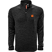 Levelwear Men's Clemson Tigers Grey Armour Quarter-Zip Shirt