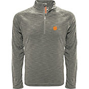 Levelwear Men's Clemson Tigers Grey Mobility Long Sleeve Quarter-Zip Shirt