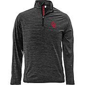 Levelwear Men's Oklahoma Sooners Grey Armour Quarter-Zip Shirt