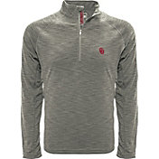 Levelwear Men's Nebraska Cornhuskers Grey Mobility Long Sleeve Quarter-Zip Shirt