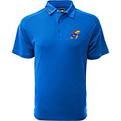 Levelwear Men's Kansas Jayhawks Blue Tactical Polo
