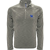 Levelwear Men's Kansas State Wildcats Grey Mobility Long Sleeve Quarter-Zip Shirt