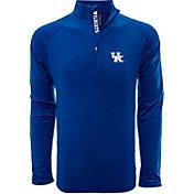 Levelwear Men's Kansas Jayhawks Blue Metro Quarter-Zip Pullover