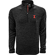 Levelwear Men's Illinois Fighting Illini Grey Armour Quarter-Zip Shirt