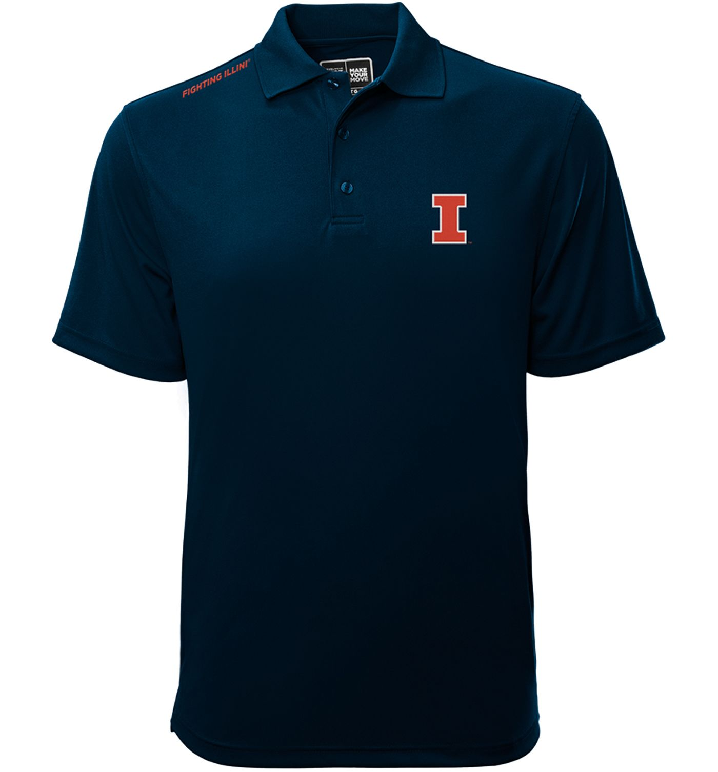 Levelwear Men's Illinois Fighting Illini Blue Helium Polo