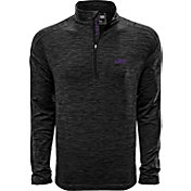 Levelwear Men's LSU Tigers Grey Armour Quarter-Zip Shirt