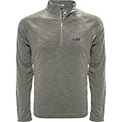 Levelwear Men's LSU Tigers Grey Mobility Long Sleeve Quarter-Zip Shirt