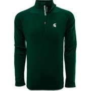 Levelwear Men's Michigan State Spartans Green Metro Quarter-Zip Pullover