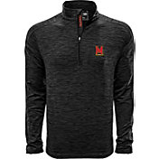 Levelwear Men's Maryland Terrapins Grey Armour Quarter-Zip Shirt