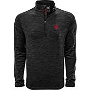 Levelwear Men's Indiana Hoosiers Grey Armour Quarter-Zip Shirt
