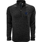 Levelwear Men's Rice Owls Grey Armour Quarter-Zip Shirt