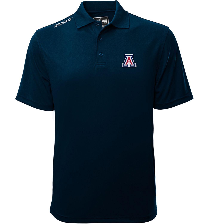Levelwear Men's Arizona Wildcats Navy Helium Polo